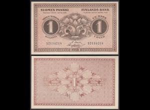 FINNLAND - FINLAND 1 MARKKA BANKNOTE 1916 PICK 19 AU (1-) (23593