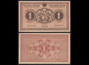 FINNLAND - FINLAND 1 MARKKA BANKNOTE 1916 PICK 19 XF- (2-) (23595