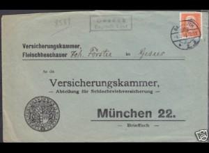 Brief Posthilfstelle, Landpost Gesees über Bayreuth Land (4321