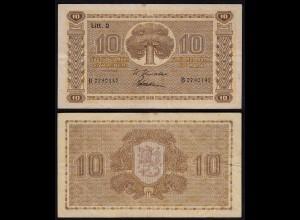 FINNLAND - FINLAND 10 MARKKA 1939 Litt. D PICK 70a F+ (4+) Serie B (23616