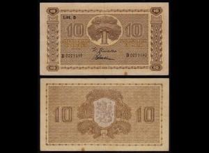 FINNLAND - FINLAND 10 MARKKA 1939 Litt. D PICK 70a F+ (4+) Serie B (23617