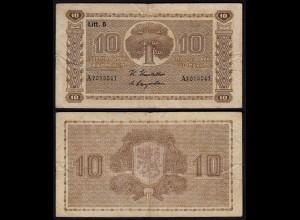 FINNLAND - FINLAND 10 MARKKA 1939 Litt. D PICK 70a F+ (4+) Serie A (23621