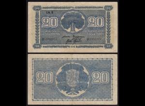 FINNLAND - FINLAND 20 MARKKA 1945 Litt. B PICK 78a VF- (3-) Serie P (23646