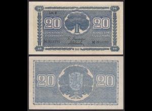 FINNLAND - FINLAND 20 MARKKA 1945 Litt. B PICK 78a XF- (2+) Serie M (23655