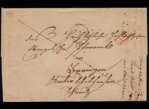 Vorphila Mulhouse/Mülhausen R2 PP 1847 mit Inhalt Elsass (23672