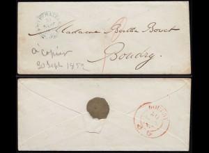 Schweiz 1852 Umschlag von NEUCHATEL nach BOUDRY (23675