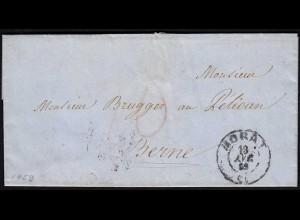 Schweiz 1859 Brief MORAT nach BERN Inhalt (23677