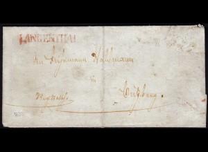 Schweiz 1833 Brief von LANGENTHAL L1 rot mit Inhalt (23682