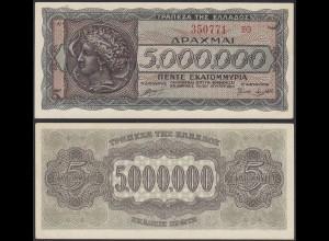 Griechenland - GREECE - 5000000 5.000.000 Drachmes 1944 - Pick 128 aUNC (14011