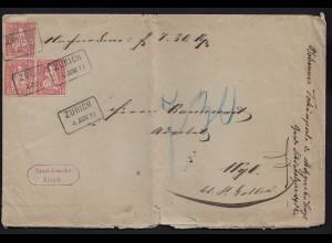 Schweiz 1878 alter Umschlag Staatskanzlei Zürich nach Wyl (23707