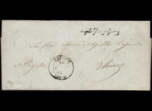 Schweiz 1841 Brief mit Inhalt von ERLACH R2 (23710