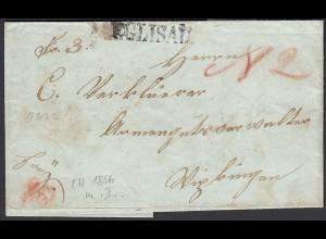 Schweiz 1856 kleiner Brief mit Inhalt von EGLISAU L1 (23711