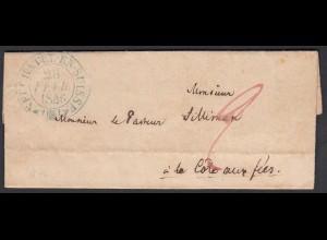 Schweiz 1846 Brief NEUCHATEL EN SUISSE nach Côte-aux-Fées Inhalt (23717