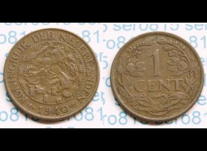 Niederlande NEDERLAND 1 Cent 1940 (b491
