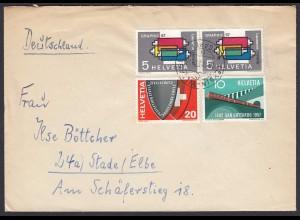 1957 Schweiz Brief nach Deutschland (23768