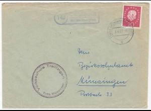 Posthilfstelle/Landpost Trallfingen über Münsingen 1961 (10442