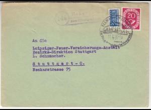 Posthilfstelle/Landpost Hohenberg über Ellwangen 1953 (10441