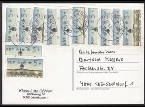 1991 Berlin Mehrfachfrankatur 5er Automatenmarke Leverkusen (23789
