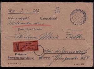 1953 Berlin Orts-Wertbrief Postsache Wilmersdorf (23790