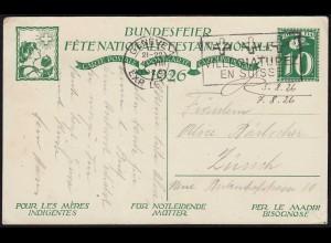 1926 Schweiz Bundesfeier-Karte Ganzsache Für Notleidende Mütter (23766