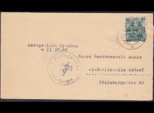 Alliierte Besetzung Mi.41 II. EF Berlin Vorläufer geprüft Schlegel 1948 (23792