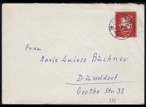 BRD BUND 1958 Einzelfrankatur Mi. 287 Jugend 20 Pfennig Bad Nauheim (23800