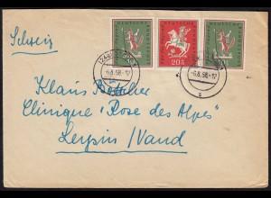 BRD BUND 1958 MIF Mi. 286/87 Jugend 10+20 Pfennig Stade - Schweiz (23801
