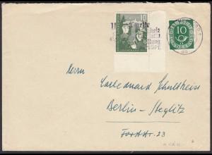 BRD BUND 1952 MIF Mi. 153 + 128 Jugend Herford - Steglitz (23803