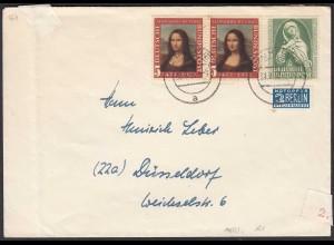 BRD BUND 1952 MIF Mi. 148 + 151 Mona Lisa + Germanisches Museum (23804