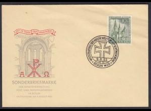 Berlin - 1953 FDC Gedächtniskirche Mi.Nr. 107 - KW 160 € (23806