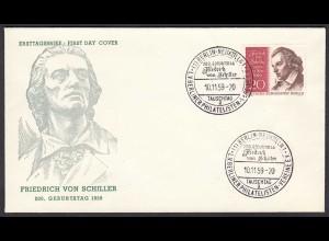 Berlin - 1959 FDC Friedrich von Schiller Mi.Nr. 190 (23809