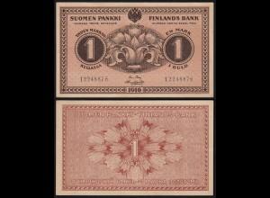 FINNLAND - FINLAND 1 MARKKA BANKNOTE 1916 PICK 19 XF (2) (23840