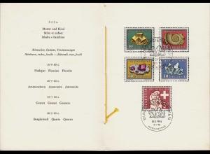 1958 Ersttag Schweiz Mineralien/Pro Patria PTT Folder (23851