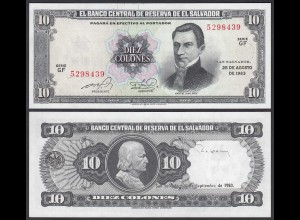 EL SALVADOR - 10 COLONES 25-8-1983 Pick 135a UNC (1) (23872