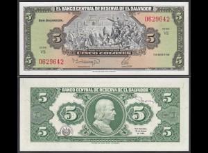 EL SALVADOR - 5 COLONES 17-3-1988 Pick 134b UNC (1) (23873