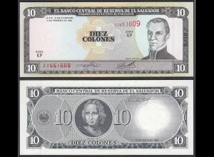 EL SALVADOR - 10 COLONES 1996 Pick 144 UNC (1) (23874