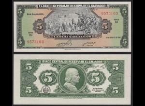 EL SALVADOR - 5 COLONES 28-8-1988 Pick 134a UNC (1) (23877