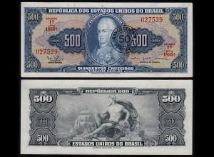 BRASILIEN - BRAZIL 50 Centavos auf 500 Cruzeiros (1986) XF (2) Pick 186 (23887