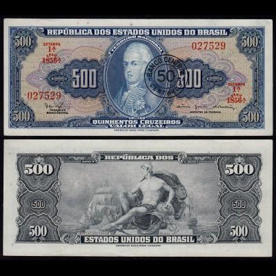 BRASILIEN - BRAZIL 50 Centavos auf 500 Cruzeiros (1986) XF (2) Pick 186a (23887