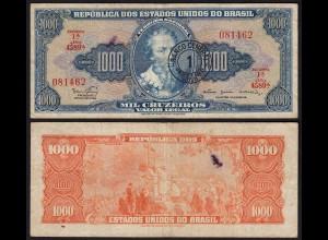BRASILIEN - BRAZIL 1 Cruzeiro auf 1000 Cruzeiros (1966-7) F (4) Pick 187b (23898