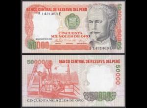 PERU 50000 50.000 Soles 1985 Pick 125B UNC (1) (23916