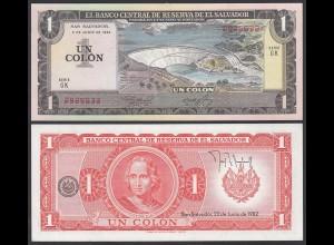 EL SALVADOR - 1 COLON 1982 Pick 133A UNC (1) (23921