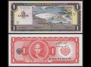 EL SALVADOR - 1 COLON 1979 Pick 125b UNC (1) (23922