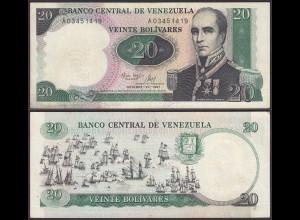Venezuela 20 Bolivares Banknote 1987 VF (3) Pick 71 (23933