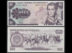 Venezuela 10 Bolivares Banknote 1981 XF (2) Pick 57a (23935