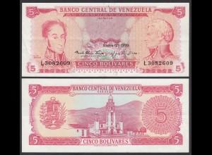 Venezuela 5 Bolivares Banknote 1970 XF (2) Pick 50d (23941