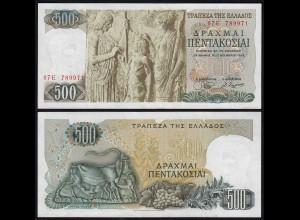 Griechenland - Greece 500 Drachmai 1968 XF (2) Pick 197 (23970