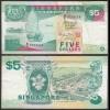 SINGAPUR - SINGAPORE 5 Dollars (1997) F/VF (3/4) Pick 35 (23974