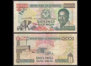 Tansania - Tanzania 1000 Shilingi (1993) Pick 27c F (4) (23980