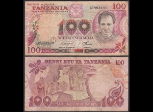 Tansania - Tanzania 100 Shilingi (1977) Pick 8b F (4) (23984